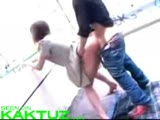 Asian couple fuck in public
