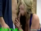 Hot blonde model fucked in the office