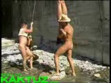 Crazy people at nudist camp
