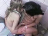 2 lesbians caught on clubs toilet