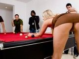 MILF pounded on pool table