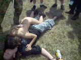 Drunk germans making out at a festival