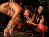 Poor slave tortured by sadistic mistress