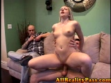 Guy watches his girlfriend getting fucked