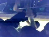 Drunk couple making out on the street