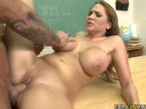 Busty student seducing her teacher