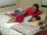 Dad grabs stepdaughter