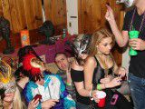 College teens fuck at a party