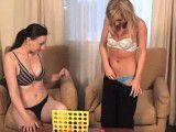 2 Girls Play Strip Four In A Row