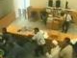 Totally insane court fighting footage