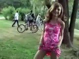 Young teen in park gets abused