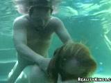 Sexy bitch fucked underwater
