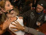 Blonde slave girl gets humilated in a kinky party