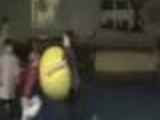 Dude with Gym. ball vs kid