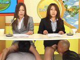 Japanese news reporters made to orgasm during live broadcast