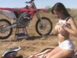 Babe fucked in desert after ride