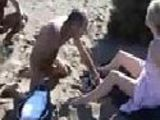 Mommy harassed on nudebeach