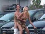 Sex in public at car dealership