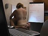 Cleraning woman fucked in office