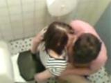 Teenagers busted having sex in schools toilet.