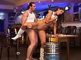 Brunette Nicky is a bar