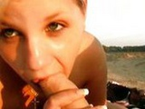 German babe wants to fuck on the beach