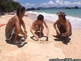 Ai Takeuchi beachfront gangbang