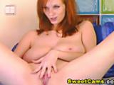 Cam: Huge Tits Redhead Babe HD