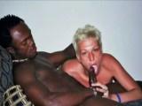 Skinny White Chick Doing A Black Guy