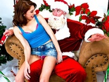 Young slutty teen schoolgirl just wants Santa's big-cock for Xmas