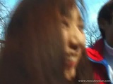 Japanese Teen Giving A Great Blowjob In Public