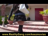 Horny young teen schoolgirl slut fucked hard by tutor's big-dick