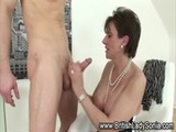 Posh Lady Sonia gets a cumshot