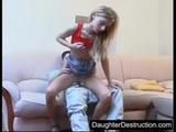 Anal creampie for young schoolgirl