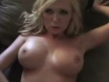 Blonde with great tits pounded on couch!