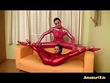 Flexible lesbian gymnasts toying juicy pussy hard deep