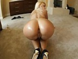 Erica Fontes lets a big dick rub up her butt crack