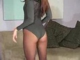 Jenna Haze's pantyhose striptease will ge ...