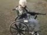 Grandma and a machine gun