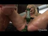 guy fucks babe with bottles