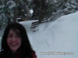 Outdoors Winter Blowjob