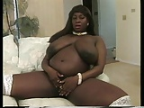 Black Mama in Stockings with Huge Tits