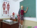 Innocenthigh Blonde Teen Maia Davis Fucks Hardcore In The Classroom