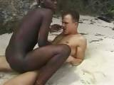 African Fuck Machine Melts Snow When Riding Big Cock