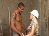 Blonde haired whore pounded hard