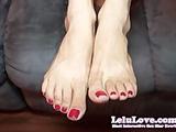 Lelu LoveRed Toenails Feet Jerkoff Encouragement