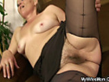 Her old shaggy cunt riding my cock