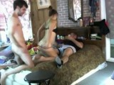 Hot slut fucked by two dudes