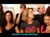 Group of horny college girls start an orgy at a house party