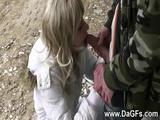 Sweet Amateur Babe Takes Cumshot After Anal Pounding